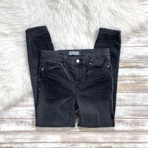 Madewell Washed Black High Riser Skinny Jeans